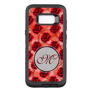 Rote Rosen sind fantastisches Monogramm auf OtterBox Defender Samsung Galaxy S8+ Hülle