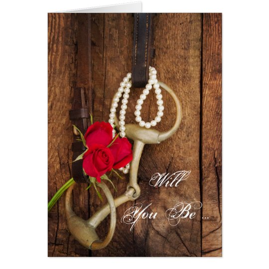 Rote Rosen und Pferdestückchen sind- Sie meine Grußkarte