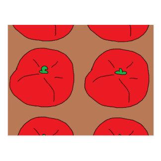 rote saftige Tomaten der Liebe I Postkarte