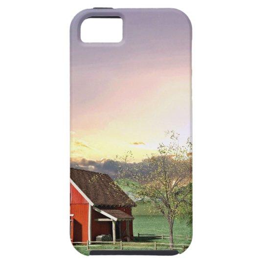 Rote Scheune am Sonnenuntergang Schutzhülle Fürs iPhone 5