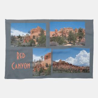 Rote Schlucht-Utah-Foto-Schablone Handtuch