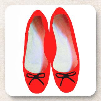 Rote Schuhe Untersetzer