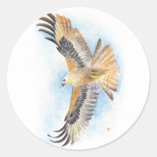 Rote Schwanz-Falke-Kunst Runder Aufkleber