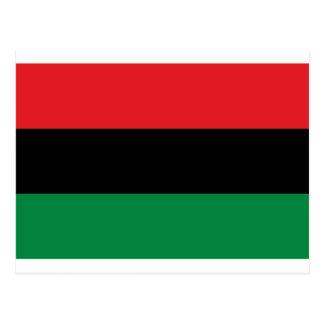 Rote schwarze und grüne Flagge Postkarte