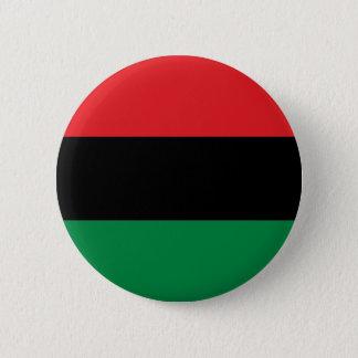 Rote schwarze und grüne Flagge Runder Button 5,7 Cm
