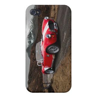 Rote Sport-Auto iPhone 4 Mattendfall Schutzhülle Fürs iPhone 4