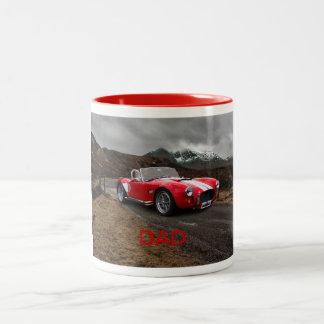 Rote Sport-Auto-Tasse Zweifarbige Tasse