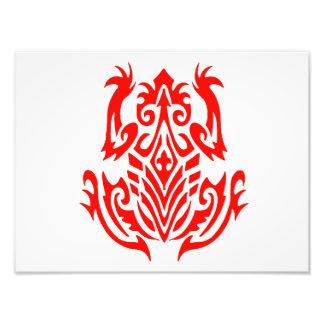 Rote Stammes- Frosch-Silhouette Fotografien
