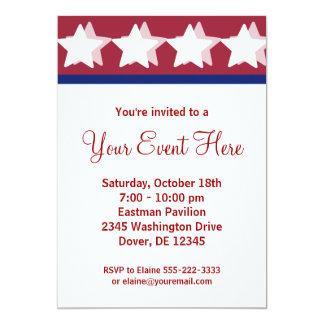 Rote Stern-Kampagnen-Party Einladungen