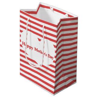 Rote Streifen u. Geschenk-Tasche der Mutter des Mittlere Geschenktüte