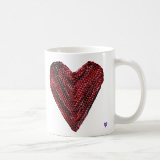 Rote Strick-Herz-Tasse Tasse
