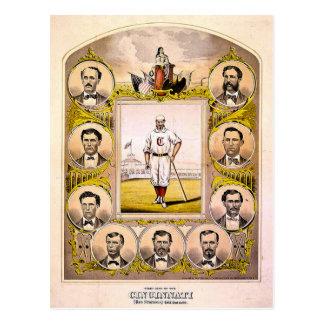 Rote Strümpfe Cincinnatis von 1869 Postkarten