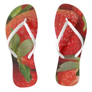Rote süße Erdbeeren Flip Flops