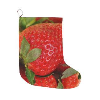 Rote süße Erdbeeren Großer Weihnachtsstrumpf