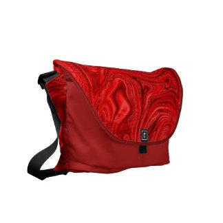 Rote Swirrel Bote-Tasche Kuriertasche