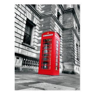 Rote Telefonzelle-Postkarte Londons Postkarte