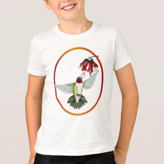 Rote Throated Kolibri-Oval-Shirts T-Shirt