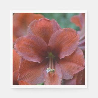 Rote tropische Blume Serviette