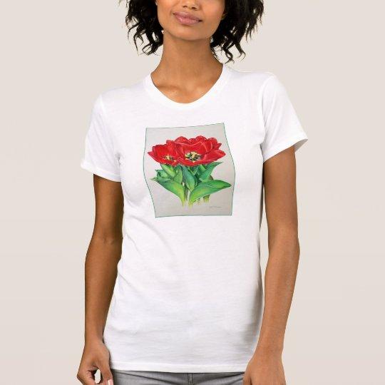 Rote Tulpen T-Shirt