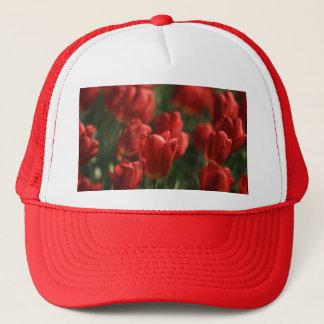 Rote Tulpen Truckerkappe