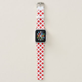 Rote Tupfen Apple Watch Armband