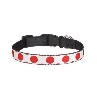 Rote Tupfen Hundehalsband