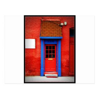 Rote Tür Postkarte