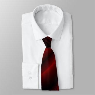 Rote u. schwarze abstrakte verblaßte Streifen Bedruckte Krawatte