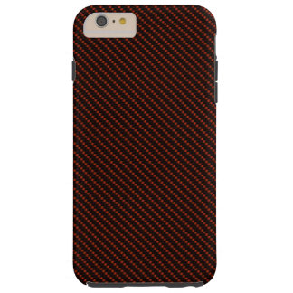 Rote u. schwarze Faser-Basis Tough iPhone 6 Plus Hülle