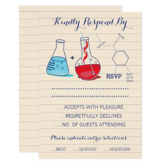 Rote und blaue Chemie-Hochzeits-Wartekarten 8,9 X 12,7 Cm Einladungskarte