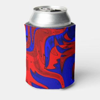 Rote und blaue extravagante Dose cooler
