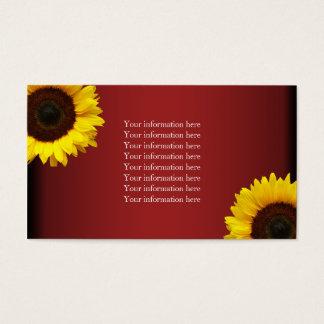 Rote und gelbe Sonnenblume-Info-Karten Visitenkarte