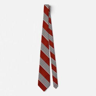 Rote und graue gestreiftes Muster-Krawatte 2 Bedruckte Krawatten