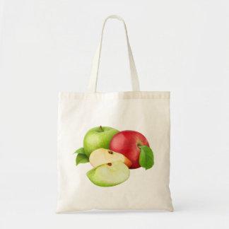 Rote und grüne Äpfel Tragetasche