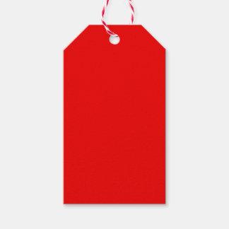 Rote und grüne Farben Geschenkanhänger