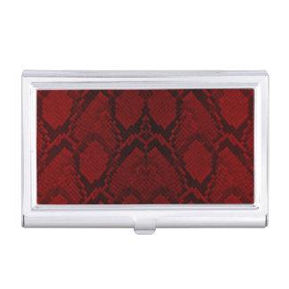 Rote und schwarze Visitenkarten-Halter