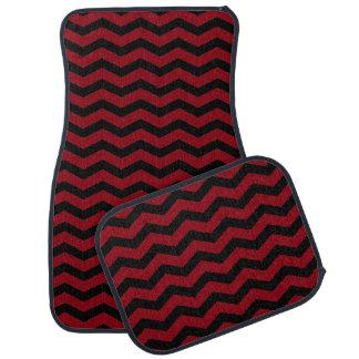 Rote und schwarze Zickzack Zickzack-Auto-Matten Auto Fussmatte
