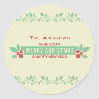 Rote und tadellose frohe Weihnacht-kundengebundene