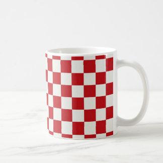 Rote und weiße Checkered Muster-Land GRILLEN Kaffeetasse