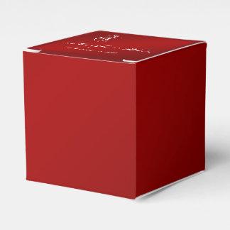 Rote und weiße Schneeflocke-Winter-Hochzeit Geschenkkarton