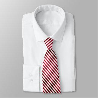 Rote und weiße Streifen auf Gewebe-Beschaffenheit Krawatte