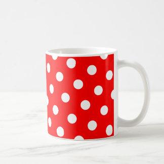 Rote und weiße Tupfen Tasse