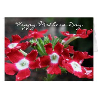 Rote Verbene: Glückliche Mutter-Tageskarte Karte