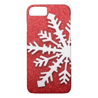 Rote WeihnachtsGlitzern iPhone 8/7 Hülle