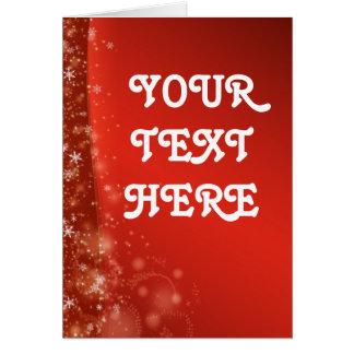 Rote Weihnachtskarte Karte