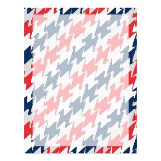 Rote weiße Marine-Blau-Neu-England Fußball-Farben Flyer
