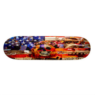 Rote, weiße u. gebohrte Skateboard-Plattform 21,6 Cm Skateboard Deck