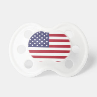 Rote weiße und blaue amerikanische Flagge Schnuller