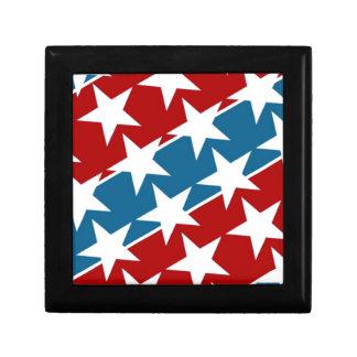 Rote weiße und blaue Flagge-Sterne Kleine Quadratische Schatulle