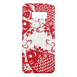 Rote Whirling Koi Karpfen-Fisch-Gruppe Samsoung Case-Mate Samsung Galaxy S8 Hülle